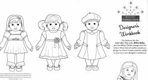 Girl Doll Colouring Pages American Isabelle Coloring