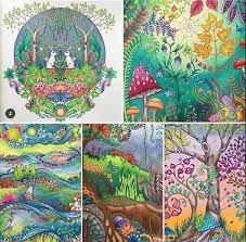 Johanna Basford Adult Coloring Books Colored Pencils Mood Boards Book Art Collages Artsy Fartsy Sketchbooks