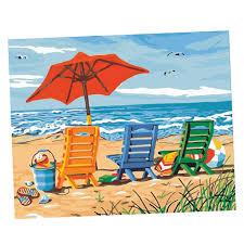 diy digital leinwand ölgemälde geschenk für erwachsene kinder malen nach zahlen kits home haus schlafzimmer wohnzimmer dekor 40 x 50 cm strand