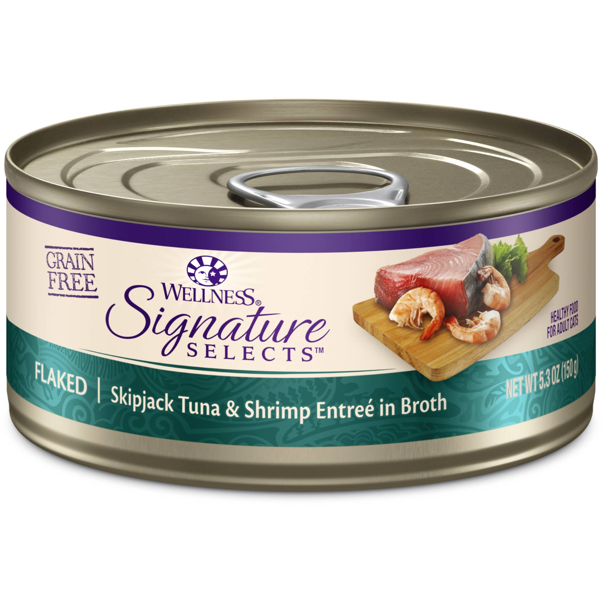 Wellness Signature Selects Flaked Tuna and Shrimp Cat Food - 5.3oz