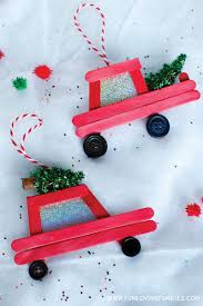 99 Truck Craft DIY Car And Popsicle Stick Christmas Ornaments Fun Loving