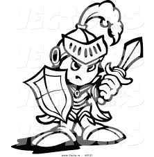 Knight Shield Coloring Page Simple Clipart
