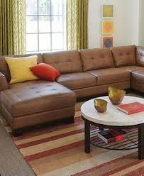 Carmine Leather Sectional Sofa 3 Piece