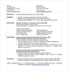 Sample Resume For Computer Science Engineering