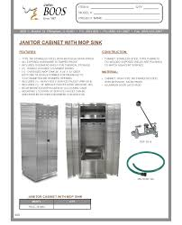 Mop Sink Faucet Specs by John Boos Pbjc 303084 Janitor Cabinet Culinary Depot