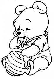Disney Characters Coloring Pages Baby Winnie The Pooh