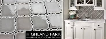 highland park dove grey arabesque tile builders surplus