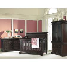 Black Dresser Pink Drawers by Decor Cool Black Wood Stained Munire Baby Furniture Crib Nursery