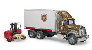 Bruder Profi-serie, MACK Granite UPS Truck Met Vorkheftruck (02828 ...