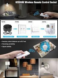 kedsum wireless remote e26 e27 light bulb socket on