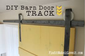 DIY Barn Door Track - Find It, Make It, Love It Sliding Barn Door Diy Made From Discarded Wood Design Exterior Building Designers Tree Doors Diy Optional Interior How To Build A Ideas John Robinson House Decor Space Saving And Creative Find It Make Love Home Hdware Mediterrean Fabulous Sliding Barn Door Ideas Wayfair Myfavoriteadachecom