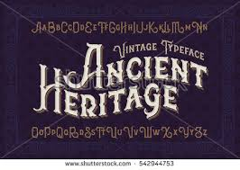 Vintage Vector Font Elegant Royal Typeface In Medieval Ancient Style