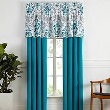 carina window valance in turquoise bed bath beyond