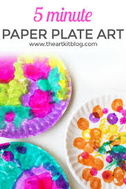 5 Minute Art Crafts Kids Do A Dot Markers Paper Plate Easy PINTEREST