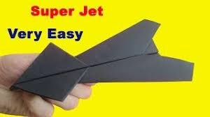 0242 How To Make A Super Jet Paper Plane That Flies Far Easy