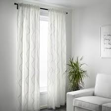 Ikea Lenda Curtains Beige by Lenda Curtains With Tie Backs 1 Pair Bleached White Room