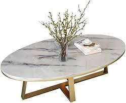 de wohnzimmer couchtisch weiß marmor platte oval l