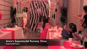 Supermodel Runway Fashion Show Annas 7th Birthday Party