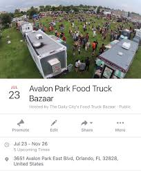 100 Orlando Food Truck Bazaar On Twitter This Sunday Were In Avalon Park