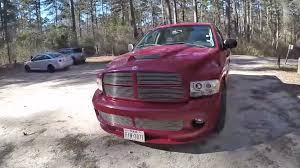 100 Dodge Truck With Viper Engine Is A Flame Red Running On 24Inch Wheels The Most Texan