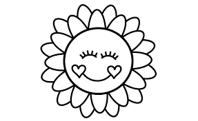 Sunflower Coloring Pages How To Color Draw For Kids Learn Colors