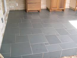scandanavian kitchen slateface black floor tile tiles from