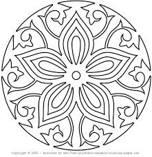 Printable Mandala Coloring Pages Easy