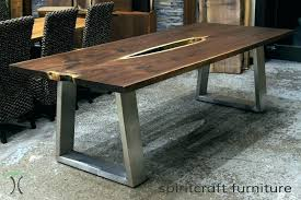 Metal Dining Room Table Legs Iron Awesome Live Edge And Slab