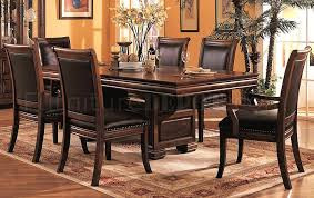 3635 Formal Dining Room In Cherry By Coaster W Leather Seats