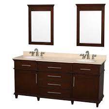 Double Sink Vanity Top 60 by Wyndham Collection Berkeley 72 In Double Vanity In Dark Chestnut