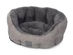 house of paws hessian oval dog bed medium grey amazon co uk