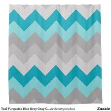 Blue Chevron Bathroom Set by Coral Peach Pink And Lavender Purple And Mint Green Shower Curtain
