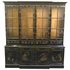 Baker Breakfront China Cabinet by Karges Oriental Bubble Glass China Cabinet Breakfront Secretary