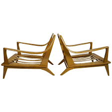Pair Of Streamline Modern Lounge Chairs Heywood-Wakefield | TAKE A ...