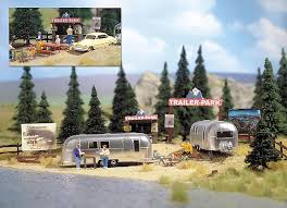 100 Pictures Of Airstream Trailers Details About Busch HO Scale Camping Trailer Park W 2 Model Train Kit 1054