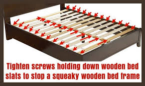 how to fix a squeaky wooden bed frame removeandreplace com