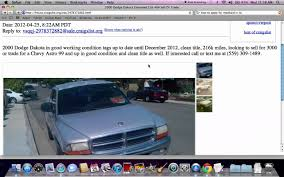 Craigslist Fresno CA Used Cars And Trucks - Vehicles Searched Under ...