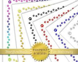 Digital Download Paw Print Printable Stationery Paper