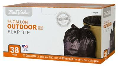 True Value Trash Bag - 38 x 33 Gal Pack