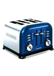 Cobalt Blue Toaster Toasters Light 4 Slice Dusted Retro Oven