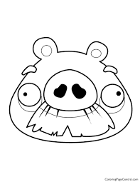 Angry Birds Foreman Pig 01 Coloring Page