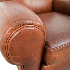 OFF Pottery Barn Pottery Barn Manhattan Brown Leather Club