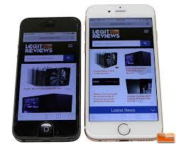 Apple iPhone 6S Review iPhone 6S Versus iPhone 5 Legit Reviews