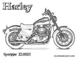Free Harley Davidson Motocycle Coloring Pages