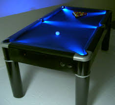 Pool Table With LED Lights In The Pockets