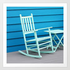 Coastal Beach House Art - Blue Rocking Chair - Sharon Cummings Art Print Costway Outdoor Rocking Lounge Chair Larch Wood Beach Yard Patio Lounger W Headrest 1pc Fniture For Barbie Doll Use Of The Kids Beach Chairs To Enhance Confidence In Wooden Folding Camping Chairs On Wooden Deck At Front Lweight Zero Gravity Rocker Backyard 600d South Sbr16 Sheesham Relaxing Errecling Foldable Easy With Arm Rest Natural Brown Finish Outdoor Rocking Australia Crazymbaclub Lovable Telescope Casual Telaweave