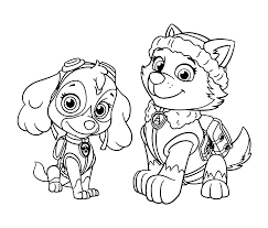 Sky Everest Patrol For Girls Paw Coloring Pages