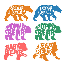Momma Bear Poppa Baby Cuttable Designs