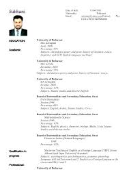 Sample Resume Of College Lecturer Fruityidea