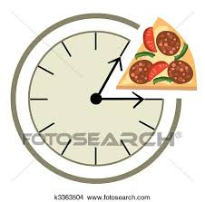 Clipart Of Lunch Time K3363504